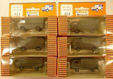 Lot ROCO MINITANKS 1/87 HO Volkswagen Van Truck Army Transporter 414 (6) Pieces
