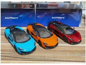 AUTOART 1/18 McLAREN 600LT Diecast model Car Gifts Yellow/Black/Orange/Red/Blue