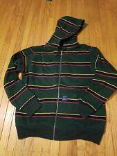 Supreme Zip Up Stripe Hoodie Sz Large