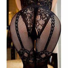 Sexy Lingerie Bodystocking Open Crotch Black Bodysuit Babydoll Erotic Fishnet