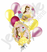 7 pc Beauty & the Beast Disney Princess Belle Balloon Bouquet  Birthday Movie