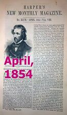 Harper's Monthly - rebound - you choose April or May, 1854