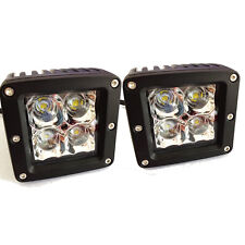 2 x 20W CREE LED Dually Cube Flood Fog Driving Light For Off Road Bar ATV Truck