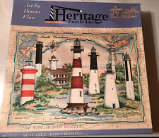 New ListingHeritage Puzzle Inc. South Carolina Lighthouses 550 Piece 18�x24�by Donna Elias