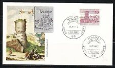 Germany 1962 FDC cover the 2000th anniversary of Mainz Mi 375 Sc 848