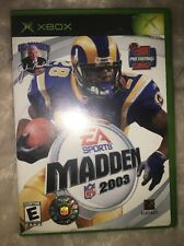 Madden Nfl 2003 Microsoft Xbox Video Game Complete