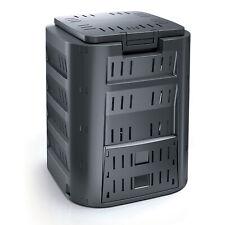 Compostiera da giardino Compostaggio Plastica Nero 320L
