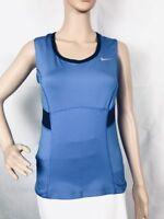 Nike Womens Tennis Dri-Fit Tank Top Size S Blue with Black