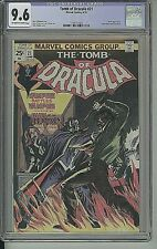 TOMB OF DRACULA #21 BLADE WOLFMAN COLAN 1974 HIGH GRADE CGC 9.6 OW-WHITE PAGES