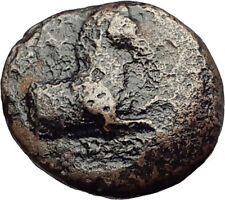 KYME in AEOLIS - Genuine 350BC Authentic Ancient Greek Coin  HORSE & VASE i62398