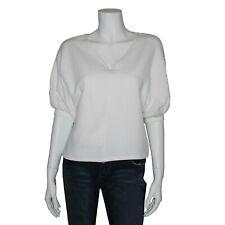 Zara Trafaluc White Textured Knit Top, Size Small (Medium) EUC