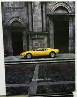 1972 Ford deTomaso Pantera Prestige Color Sales Brochure Original