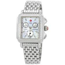 NEW Michele Deco Day MWW06P000099 Diamond Dial Diamond Bezel Signature MOP Watch