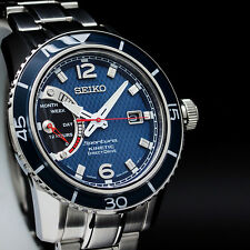 NEW MEN'S BLUE DIAL SEIKO SPORTURA KINETIC DIRECT DRIVE SAPPHIRE WATCH SRG017P1