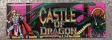Castle Of Dragon Arcade Game Marquee Fridge Magnet