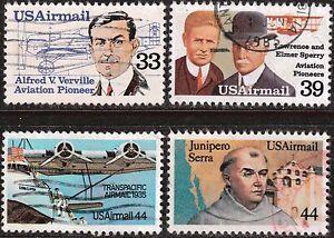 Scott C113-C116 Used Airmail, 1985 Commemorative Issue