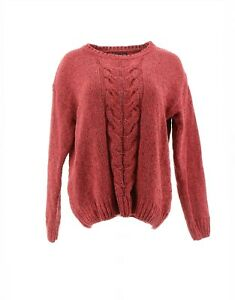I.B. Diffusion Women's Marled Chenille Pullover Sweater S Pink # U22791U-CL