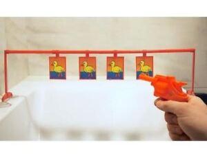 New Bath Toy Bathtub Fun Time Games Set Duck Shoot Out Bath Gift for Kids