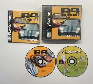 R4: Ridge Racer Type 4 (PS1, 1998) Bonus Disc Included - Manual Missing Pages