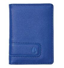 NWT MENS NIXON SHOWUP BLUE FAUX LEATHER BIFOLD CARD WALLET NEW