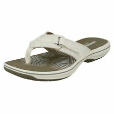 57d2df98e07086 Clarks Brinkley Sea - White Synthetic (textile) Womens Sandals 6 UK