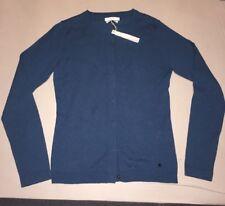 Damen BRAX Strickjacke Pullover Pulli Oberteil blau dunkel cyan Gr. DE 34 XS Neu