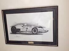 Stirling Moss Signed Goodwood 1962 Lotus British F1 Driver Lewis Hamilton