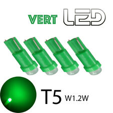 4 ampoules LED T5 w1.2w VERT Compteur Miroirs courtoisie lampe lecture éclairage