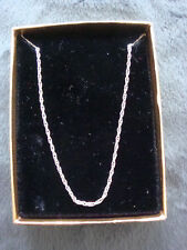 "Sterling Silver Chain 18"" Necklace 2g with Box"