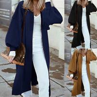 ZANZEA Women Long Sleeve Oversize Cardigan Coats Ladies Autumn Outwear Overcoats
