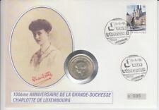 Numisbrief der Monarchien  Luxemburg  Großherzogin Charlotte   Silber  1996