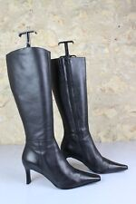 Boots ANDRE T 36 Tips Sharp/ pointed Black Leather Very good condition