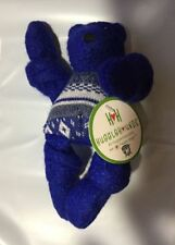 HUGGLEHOUNDS  KNOTTIES WOOLY SMALL 9 INCH HANUKKAH BEAR WITH SWEATER DOG TOY