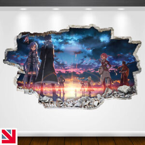 SWORD ART ONLINE ANIME Wall Sticker Vinyl Decal Mural Poster