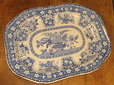 Antique Gergian Period Filigree Design Large Meat Platter Serving Plate C1830