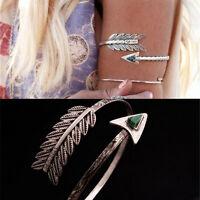 Bohemian Ethnic Upper Arm Bracelet Vintage Arrow Open Bangle Armlet Arm Cuff TEU