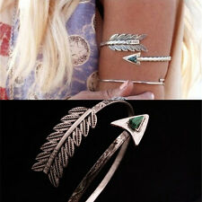 Vintage Bohemian Upper Arm Bracelet Arrow OpenBangle Armlet Arm Cuff Adjustaerv