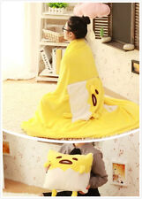 Gudetama Lazy egg fleece blanket 3D cushion pillow 2 in one Summer 150x180cm