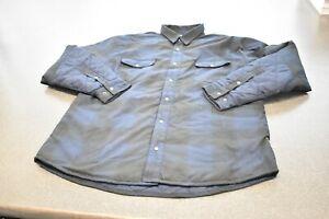 Flylow Long Sleeve Winter Flannel, Blue/Black, Size XXL