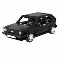 MOC Car Volkswagen Golf MK1 Modellauto Brick Block Moc Technic building black