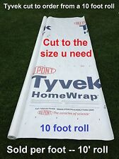 10' Tyvek Homewrap Groundcloth Hiking Tarp Camping Tent Footprint w/Anchor Loops