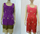 Beautiful Embroidered Sequins Dip Dyed Tunic Dress S 10 M 12 Straight Floral