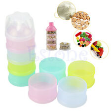 4 Layer Baby Infant Food Milk Feeding Powder Dispenser Container Travel Boxes