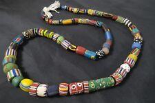 Alte Glasperlen Venedig Murano AF53 Old Venetian Striped trade beads Afrozip