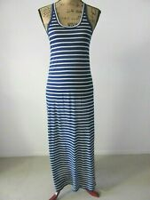 NWT J.Crew Sun Washed Cotton Maxi Tank Dress Blue White Stripe Racer-Back Size S
