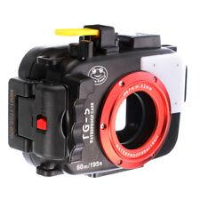 195FT/60M Waterproof Underwater Housing Case For Olympus TG5 TG-5 Camera Black