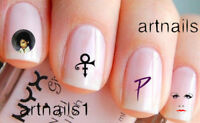 Prince Nail Purple Art Water Decals Stickers Salon Polish Manicure Mani Nails