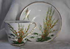 "Vintage Royal Stafford ""Broom"" Teacup and Saucer Set"