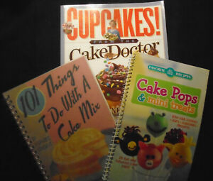 Cupcakes from the Cake Mix Doctor Cookbook Lot of 3 Mini Treats Cake Pops