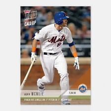 2018 TOPPS NOW #497 JEFF MCNEIL PINCH-HIT SINGLE ON 1ST PITCH IN 1ST MLB AT-BAT